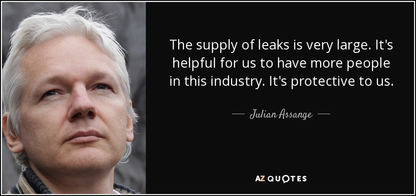 "the revelations of julian assange on the american government Wikileaks founder julian assange told fox news' sean hannity tuesday that the media is ""very dishonest,"" but stopped short of calling it ""corrupt""."