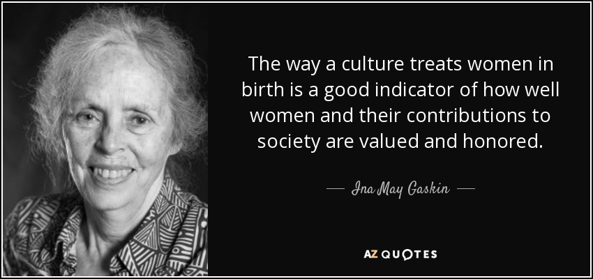 Ina May Gaskin Quote The Way A Culture Treats Women In Birth Is A