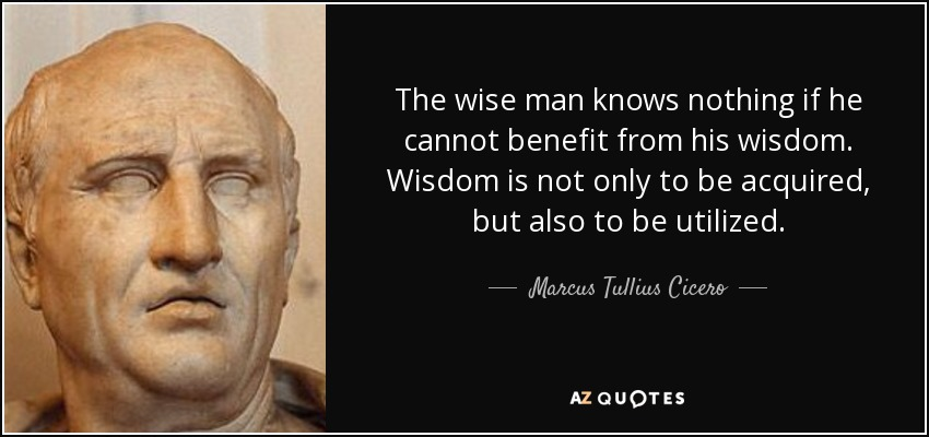 wisdom and the wise man socrates A wise man gets more use from his enemies than a fool from his friends baltasar gracian the secret of success is learning how to use pain and pleasure instead of having pain and pleasure use you.