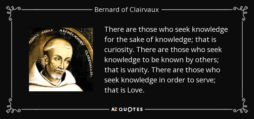 Top 25 Quotes By Bernard Of Clairvaux Of 108 A Z Quotes
