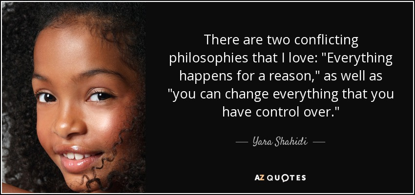 Yara Shahidi Quote There Are Two Conflicting Philosophies That I