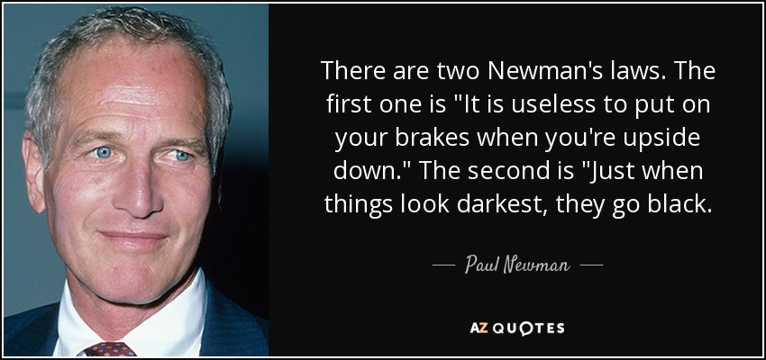 There are two Newman's laws. The first one is