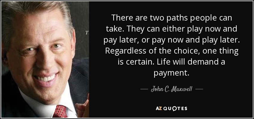 John C. Maxwell Quote: There Are Two Paths People Can Take