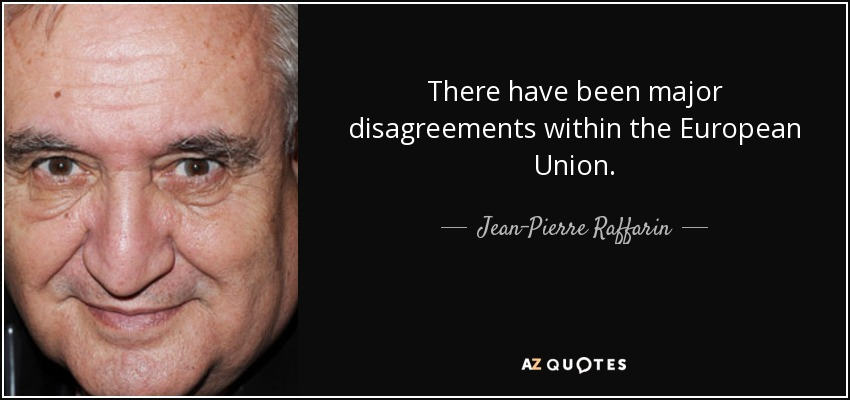 There have been major disagreements within the European Union. - Jean-Pierre Raffarin