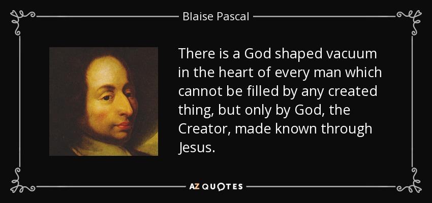 blaise pascal quotes god - photo #14