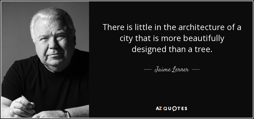 There is little in the architecture of a city that is more beautifully designed than a tree. - Jaime Lerner