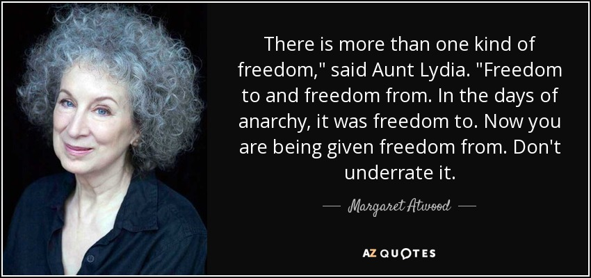 There is more than one kind of freedom,
