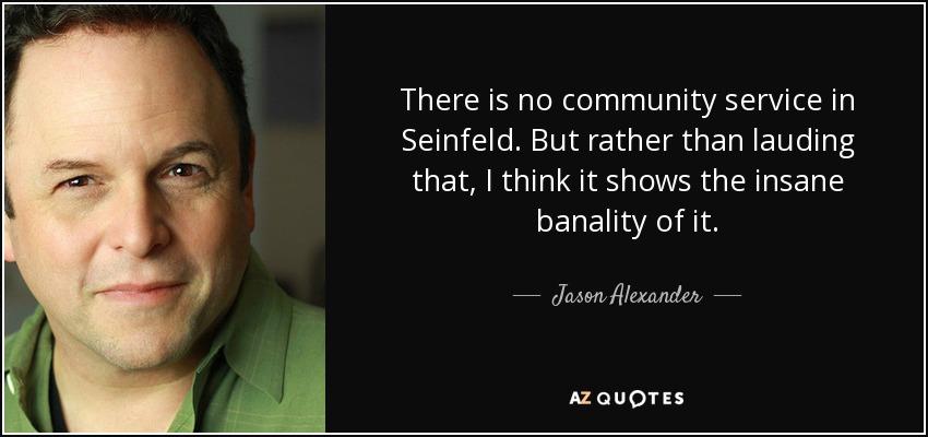 No community service?