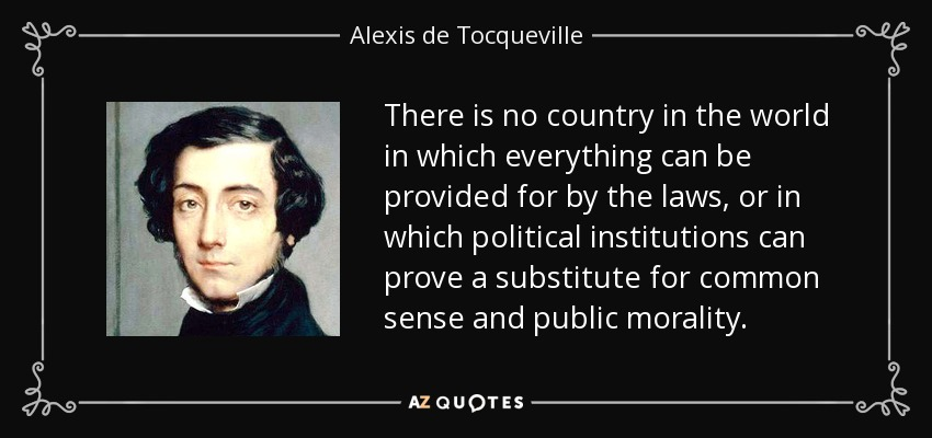 an analysis of the justice by adam smith and alexis de tocqueville Unlike most editing & proofreading services, we edit for everything: grammar, spelling, punctuation, idea flow, sentence structure, & more get started now.