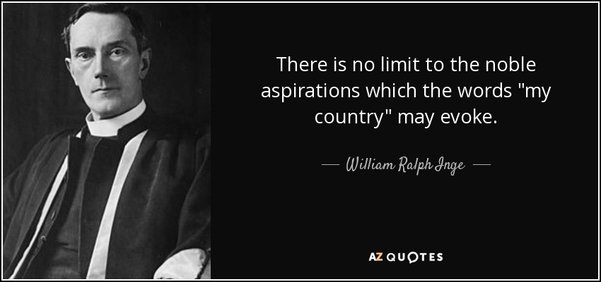 There is no limit to the noble aspirations which the words