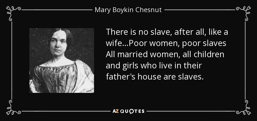 there is no slave after all like a wifepoor women