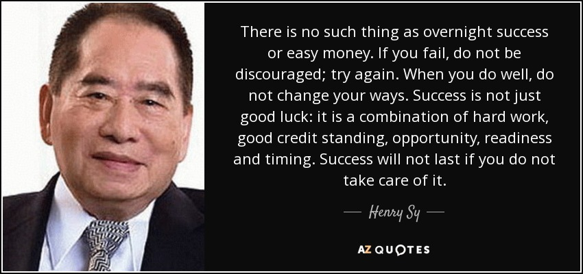 Top 8 Quotes By Henry Sy A Z Quotes