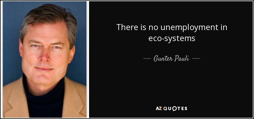 There is no unemployment in eco-systems - Gunter Pauli