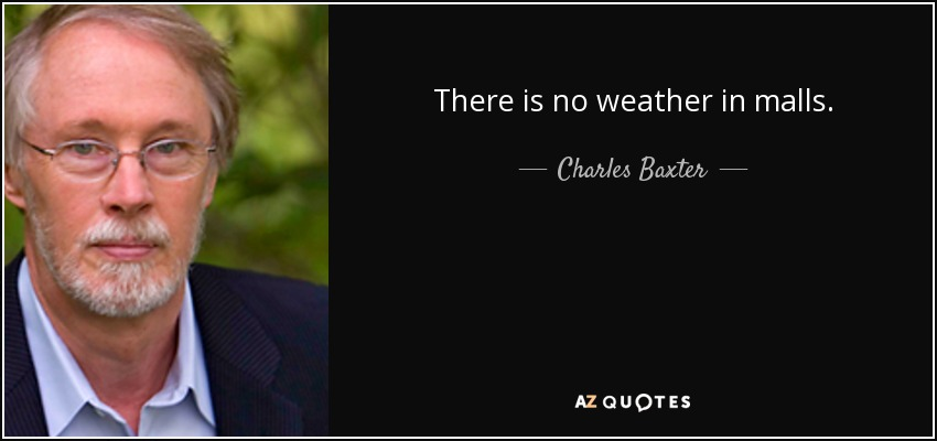 There is no weather in malls. - Charles Baxter