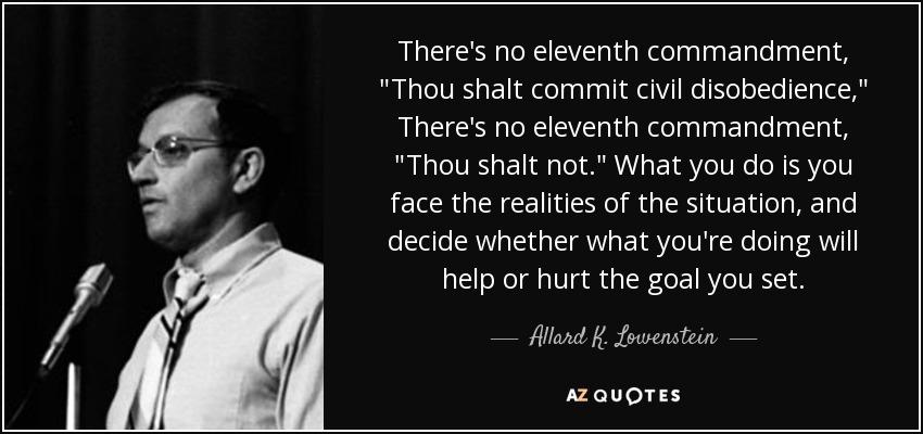 There's no eleventh commandment,