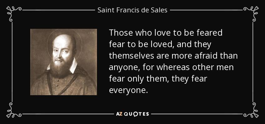 Men fear love