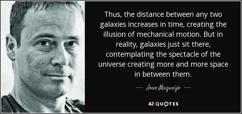 Thus, The Distance Between Any Two Galaxies Increases In Time, Creating The  Illusion Of
