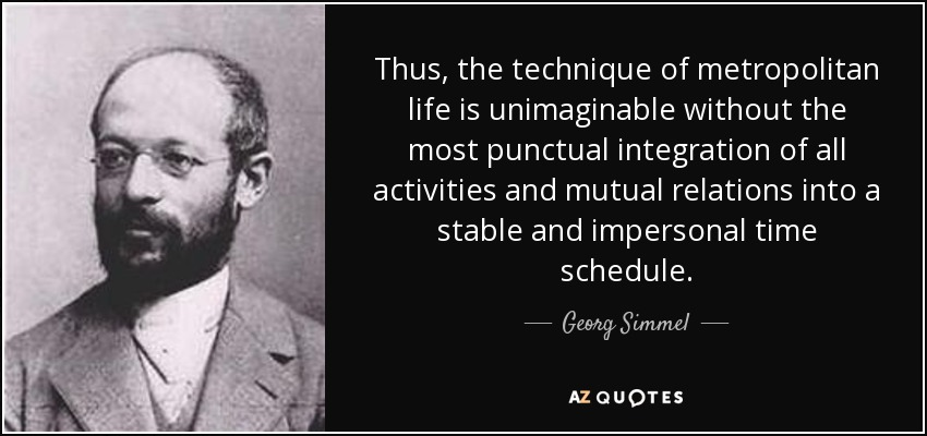george simmel Georg simmel was born on march 1, 1858, in the very heart of berlin, the corner  of leipzigerstrasse and friedrichstrasse this was a curious birthplace--it would.