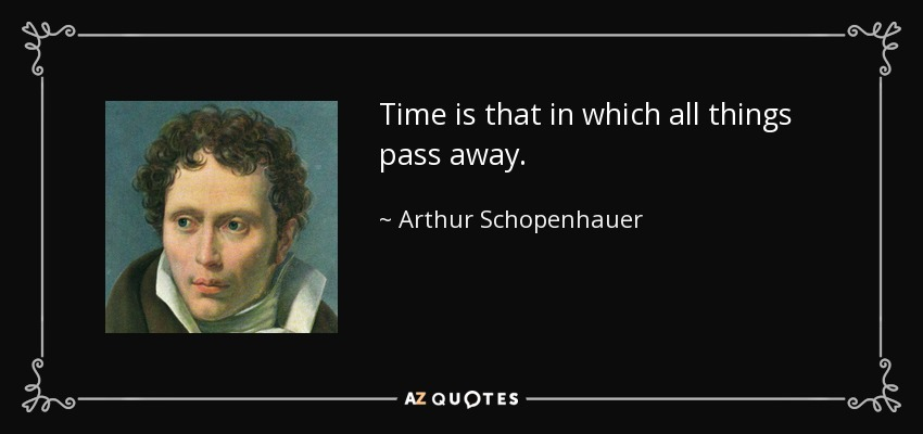 Time is that in which all things pass away. - Arthur Schopenhauer