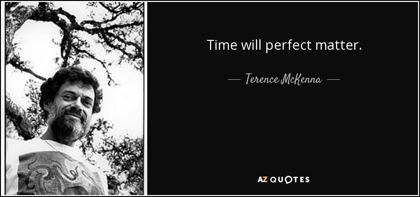 Time will perfect matter. - Terence McKenna
