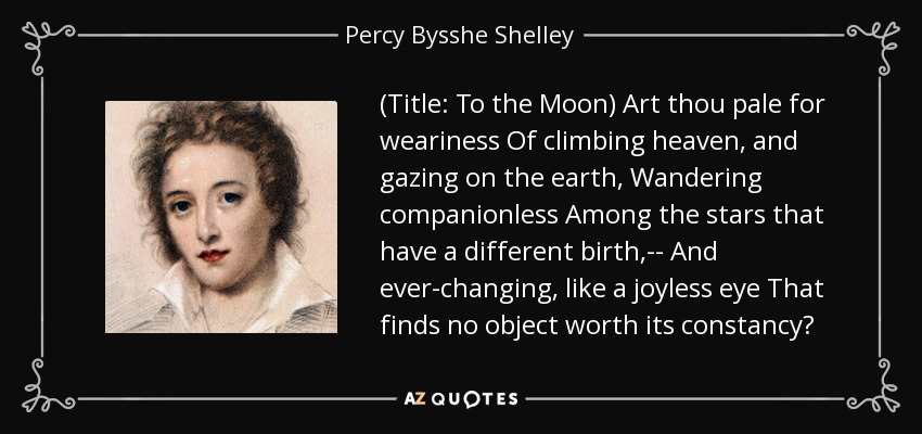 the moon by pb shelley