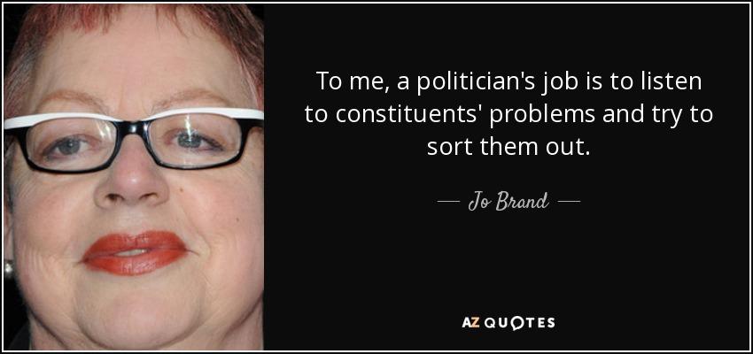 What is a politician's job description?