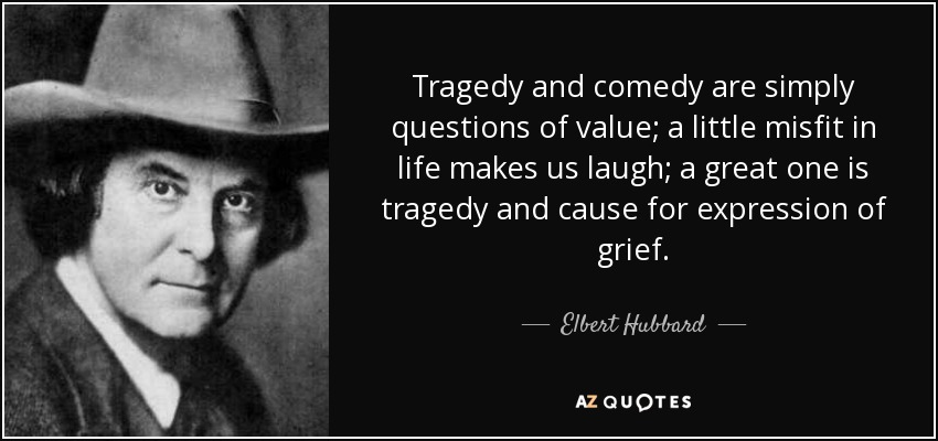 tragedy and comedy essay Comedy: comedy, type of drama or other art form the chief object of which, according to modern notions, is to amuse it is contrasted on the one hand with tragedy and on the other with farce, burlesque, and other forms of humorous amusement.