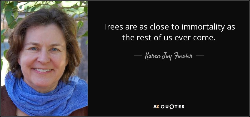 Trees are as close to immortality as the rest of us ever come. - Karen Joy Fowler