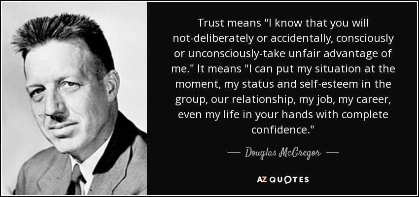 Trust means