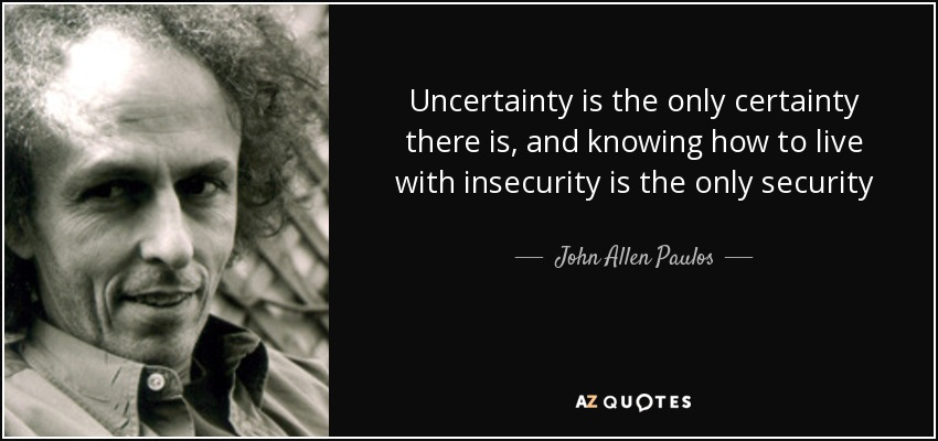 TOP 25 UNCERTAINTY AND DOUBT QUOTES | A-Z Quotes