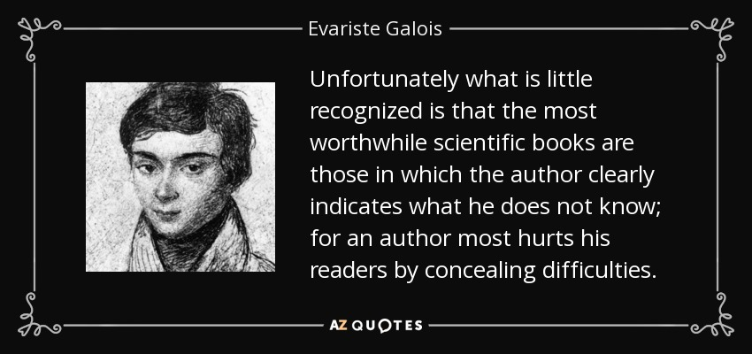 Those Little Paws Quotes: QUOTES BY EVARISTE GALOIS