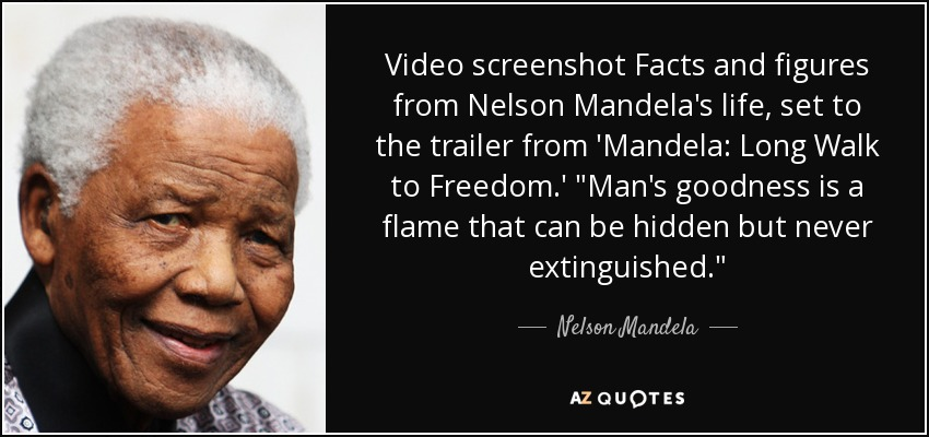 Video screenshot Facts and figures from Nelson Mandela's life, set to the trailer from 'Mandela: Long Walk to Freedom.'