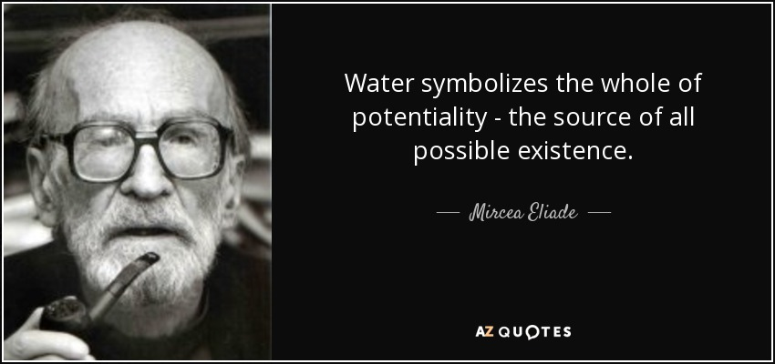 Water symbolizes the whole of potentiality - the source of all possible existence. - Mircea Eliade