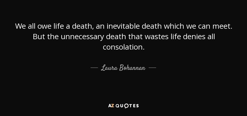 a discussion about life and inevitability of death Table of contents introduction: death in literature outi hakola and sari kivistö vii i life writing, death and immortality.