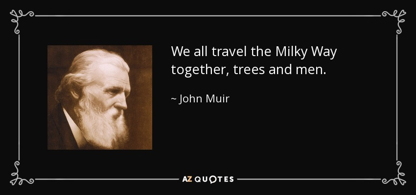 We all travel the Milky Way together, trees and men. - John Muir