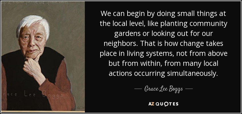 TOP 60 COMMUNITY GARDEN QUOTES AZ Quotes Fascinating Quotes About Community