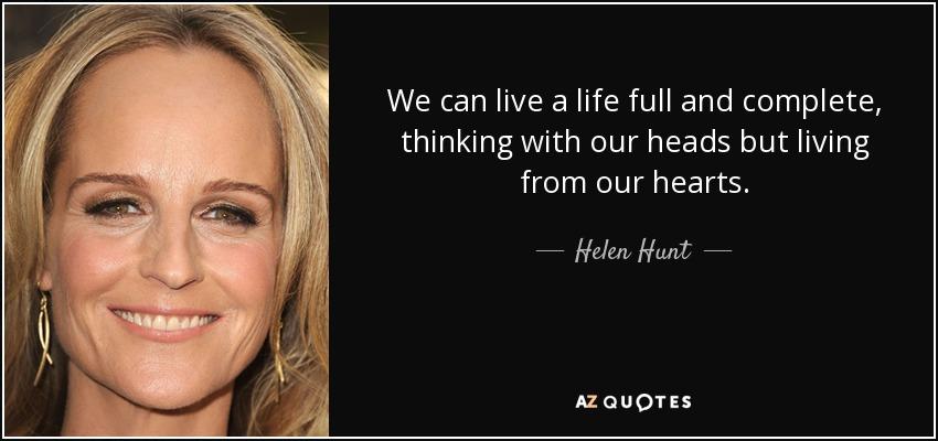 Helen Hunt quote