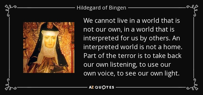hildegard essay Hildegard's music consists of the 69 songs symphonia armonie celestium revelationum, and the musical mystery play ordo virtutum, which includes more than 80 songs.