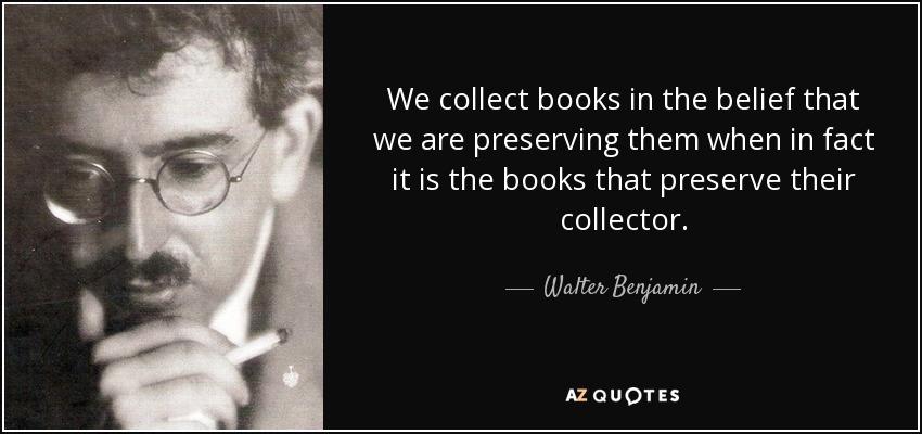 walter benjamin essay collection