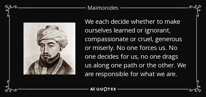 Top 25 Quotes By Maimonides Of 149 A Z Quotes