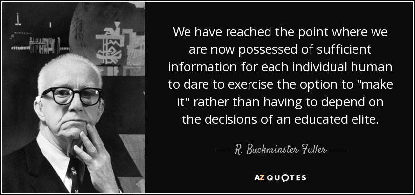We have reached the point where we are now possessed of sufficient information for each individual human to dare to exercise the option to