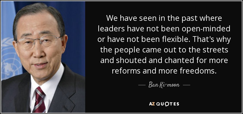 Ban Ki-moon quote: We have seen in the past where leaders have not...