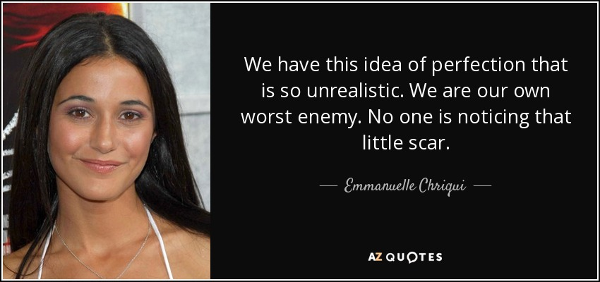 Emmanuelle Chriqui Quote We Have This Idea Of Perfection That Is So