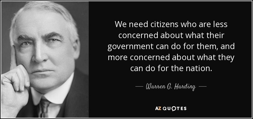 top 25 quotes by warren g harding az quotes