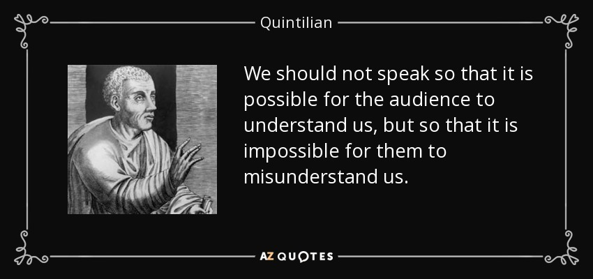 TOP 25 QUOTES BY QUINTILIAN (of 91) | A-Z Quotes