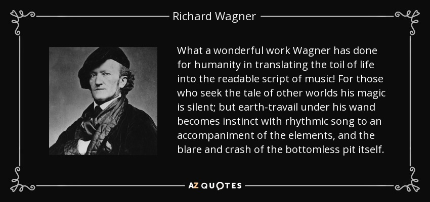 the life and work of richard wagner The life of richard wagner richard wagner,  and the epidemic fever which came stalking abroad to finish the grim work of carnage left the future composer.