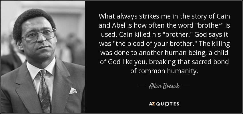 What always strikes me in the story of Cain and Abel is how often the word