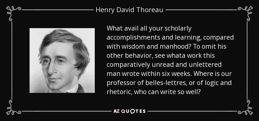 Henry David Thoreau accomplishments