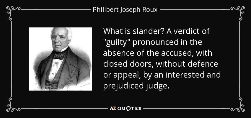 What is slander? A verdict of