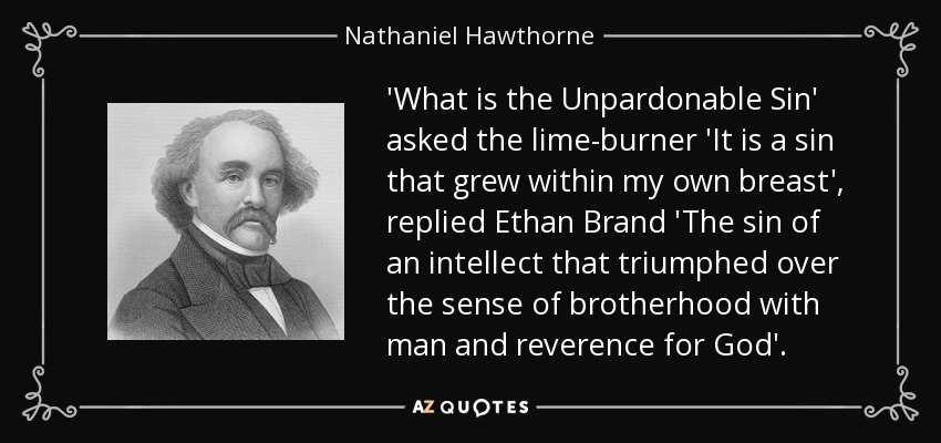 the lust for knowledge in ethan brand by nathaniel hawthorne